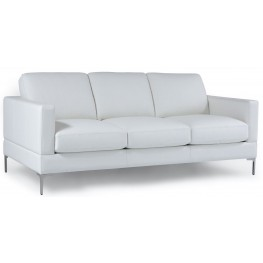 Tobia Snow White Leather Sofa