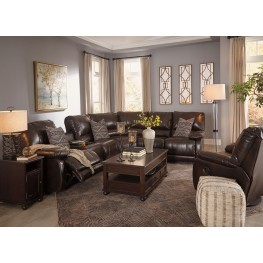 Barilanni Dark Brown Lift Top Occasional Table Set