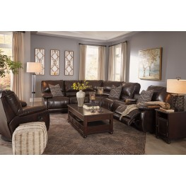 Hallettsville Saddle Power Reclining Sectional ...