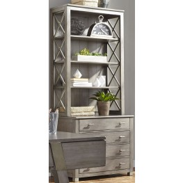 Moss Creek Gray File Cabinet with Hutch
