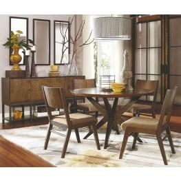 Kateri Hazelnut Round Pedestal Dining Room Set