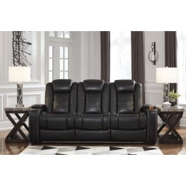 Phenomenal Party Time Midnight Power Reclining Sofa With Adjustable Headrest Caraccident5 Cool Chair Designs And Ideas Caraccident5Info