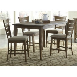 Pebble Creek I Weathered Butterscotch Gathering Dining Room Set