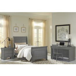 French Market Zinc Youth Sleigh Bedroom Set