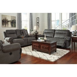 Austere Gray Reclining Living Room Set Part 55