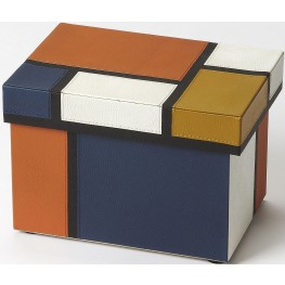 Hors D'oeuvres Mosaic Leather Storage Box
