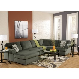 Jessa Place Pewter Left Arm Facing Sectional