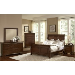 French Market French Cherry Sleigh Bedroom Set