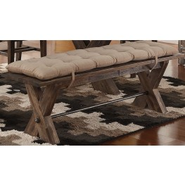 Tuscany Park Vintage Grey Bench With Cushion