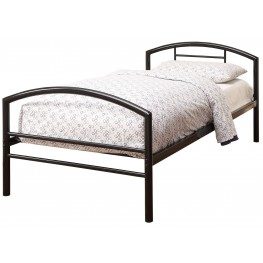 Baines Black Twin Panel Bed