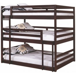 Sandler Cappuccino Youth Full Triple Bunk Bed