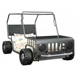 Casey Black Jeep Car Twin Size Bed