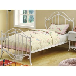 Bella White Twin Bed