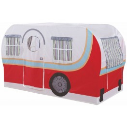 Mooney Camper Red and White Twin Camper Bed
