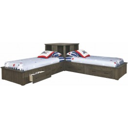 Napoleon Youth Gunsmoke Twin Corner Platform Bed
