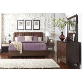 Modern Harmony Burnished Walnut Platform Bedroom Set
