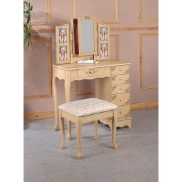 Ivory Hand Painted Vanity 4038