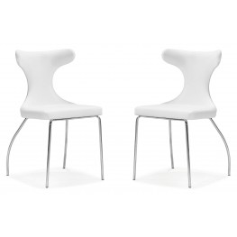 Gekko Conference Chair White Set of 2