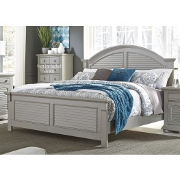 Summer House II Gray King Panel Bed