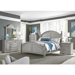 Summer House II Gray Poster Bedroom Set
