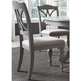 Summer House Dove Grey Upholstered Side Chair Set of 2