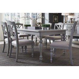 Summer House Dove Grey Rectangular Leg Dining Room Set