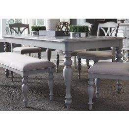 Summer House Dove Grey Rectangular Leg Extendable Dining Table