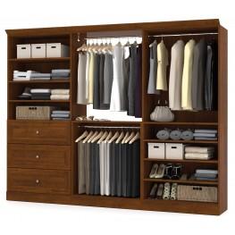 Versatile Tuscany Brown 108'' Storage Wardrobe
