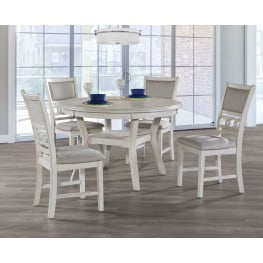 Gia Bisque 5 Piece Round Dining Room Set