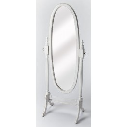 Masterpiece Cottage White Cheval Mirror