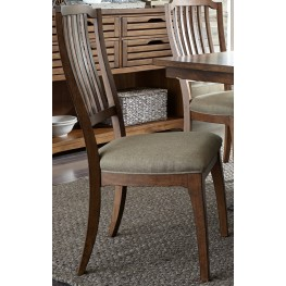 Arlington House Cobblestone Brown Spindle Back Side Chair Set of 2
