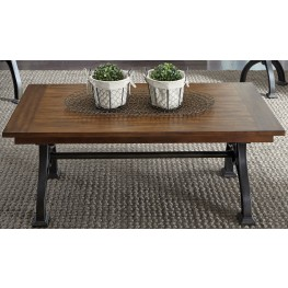 Arlington House Cobblestone Brown Rectangular Cocktail Table