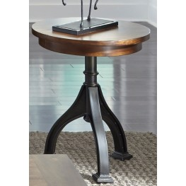 Arlington House Cobblestone Brown Chairside Table