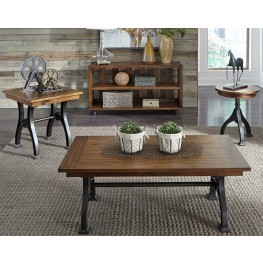 Arlington House Cobblestone Brown Rectangular Occasional Table Set