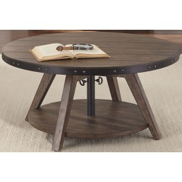 Aspen Skies Russet Brown Motion Cocktail Table