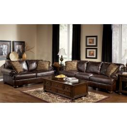 Axiom Walnut Sofa & Chair Living Room Set