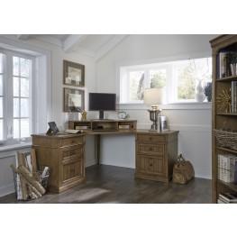 Cumberland Creek Rustic Oak Home Office Set