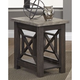 Heatherbrook Charcoal Chair Side Table