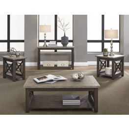 Heatherbrook Charcoal Occasional Table Set