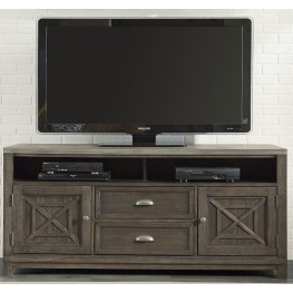 Heatherbrook Charcoal and Ash Entertainment TV Stand