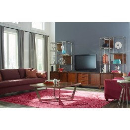 Simply Urban Brown Cherry Square Occasional Table Set
