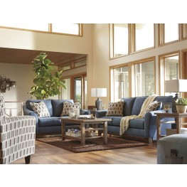 Janley Denim Living Room Set