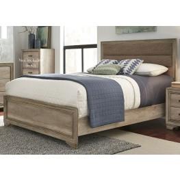 Sun Valley Sandstone Full Upholstered Panel Bed