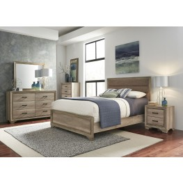 Sun Valley Sandstone Upholstered Panel Bedroom Set