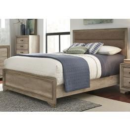 Sun Valley Sandstone King Upholstered Panel Bed