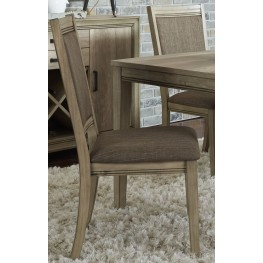 Sun Valley Brown Upholstered Side Chair Set of 2