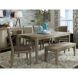 Sun Valley Brown Rectangular Leg Dining Room Set