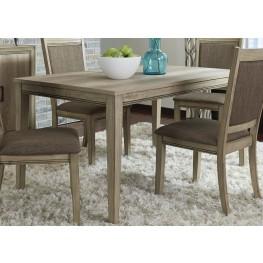 Sun Valley Brown Rectangular Leg Dining Table