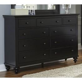 Hamilton III Black 9 Drawer Dresser