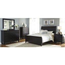 Hamilton III Black Sleigh Bedroom Set
